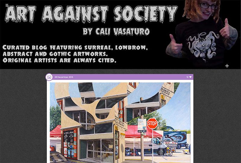 ArtAgainstSociety website
