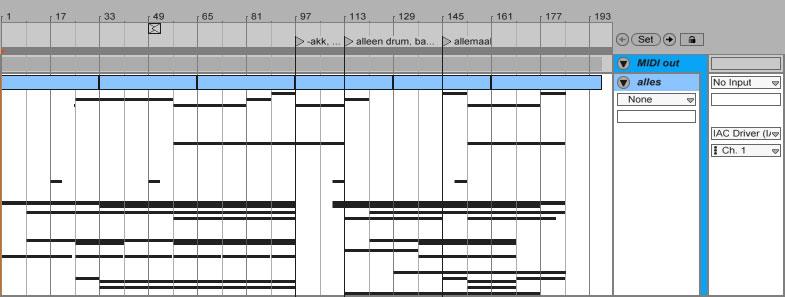 Ableton MIDI clip