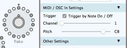EPG MIDI in settings