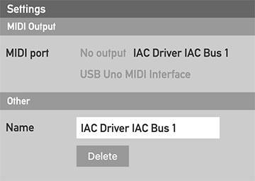The Output settings editor