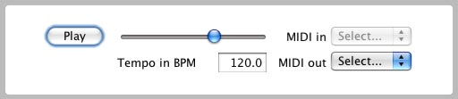 Pattern generator control bar