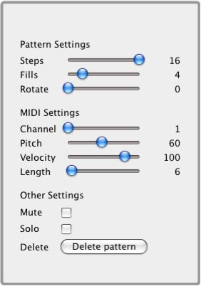 Pattern and MIDI Settings