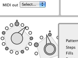 Euclidean MIDI patterns screenshot